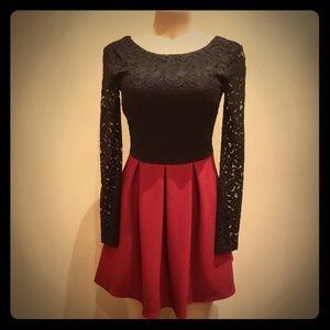 Sexy Black/Red Dress B94